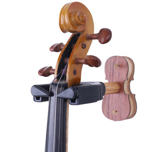 Violin viola Wall Hanger Auto Lock Safety Wooden Wall Mount Holder, with Auto Lock Design -Wood Base(2 Colour)