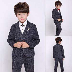 Children Suit Baby Boys Suits Kids Boy Blazer Boys Formal Suit For Weddings Clothes Set Jackets+Vest+Pants 3pcs 4-12Y
