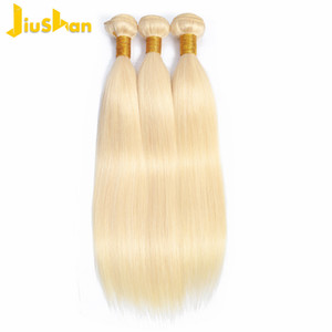 613 Blonde Virgin Hair Brazilian Straight Human Hair Bundles 4Pcs 8A Platinum Blonde Brazilian Virgin Hair Straight Extensions.