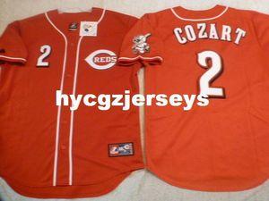 Ucuz beyzbol 2. ZACK Cozart dikili gömlek Jersey W / KIRMIZI BACAK YAMA Mens Satılık formaları Büyük Ve Uzun SIZE XS-6XL dikişli