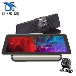 Effort &Bj 4g Car Dvr 10inch 1080p Camera Android 5 .1 Gps Navigation Adas Car Dvrs Dual Lens Remote Monitor Night Vision Dash Cam