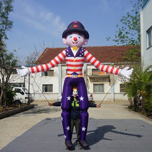3.5m Lighting Movable Inflatable clown Costume Walking clown Controllable clown Parade Puppet With LED Lights