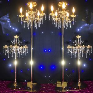 Gros mariage Crystal Walkway Stand de fleurs pilier mariage Table Top Chandelier Centerpieces best01179