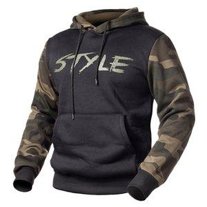 Hoodies Men Camouflage Sweatshirt Hooded Tops Streetwear Mens luxury Hoodie Hip Hop Print Hoodie Army Green EU Size 2XL