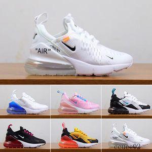 nike air max 270 270s 27c airmax alta qualidade Baby Kids Athletic Shoes Crianças Designers Sapatos Sneakers lobo cinzento criança Sports for Boys menina da criança Pour C-4RD