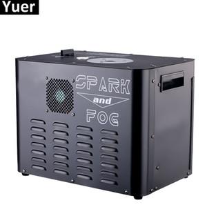 새로운 2300W 불꽃 안개 기계 8X6W RGBA 4IN1 LED 무대 조명은 분수 DJ 기계 DMX / 원격 제어 불꽃 안개 기계 스파크 콜드