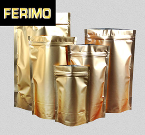 50pcs lot sizes 9*13cm small Stand up pouch Aluminium Foil Bag, Metallic Plastic Packaging Pouch for coffee