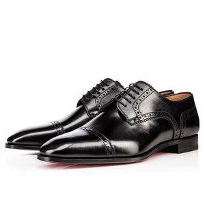 Marke Mode-rote untere Schuhe Greggo Orlato Flach echtes Leder Oxford Schuhe Mens-beiläufige Gehen Wohnungen Hochzeit Loafers 38-46