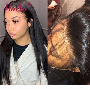 360 completa Lace frontal Corpo peruca de cabelo com bebê de onda Kinky água direto da onda profunda peruana dianteira do laço Humano Perucas 250 Densidade