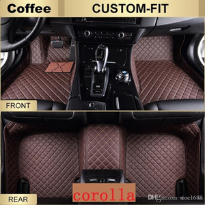 SCOT All Weather Leather Car Floor Mats for Toyota Corolla Waterproof Anti-slip 3D Front & Rear Carpets Custom-Fits Left-Hand-Driver-Model