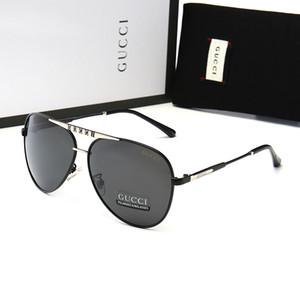 De lujo de los hombres y las gafas de sol de moda Oval marco de los vidrios de protección UV Revestimiento de la lente sin marco plateado con hots caja de la caja