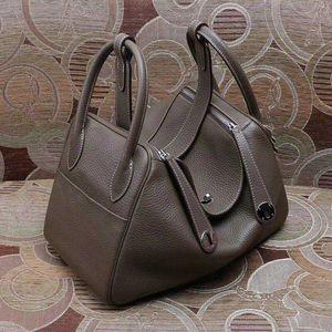 Borse firmate Famoso marchio Brand Linady Designer Borsa Donne Fashion Genuine Pelle Borsa di alta qualità Litchi POt Handbag