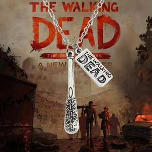 The Walking Dead Colar Hot Filme Cudgel E Carta Logo Declaração Colar Gargantilha Do Vintage Unisex Colares Pingentes Colar