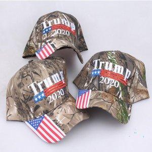 Başkan Trump 2020 MAGA Şapka Ayarlanabilir Kamuflaj Renk KAG Strapback ABD Bayrağı Beyzbol şapkası Snapback Spor Plaj Koşu Ponytail Caps A5708