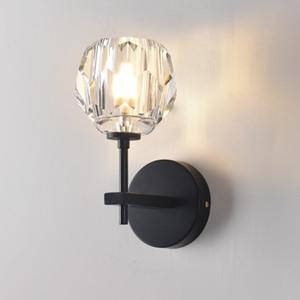 Modern RH K9 Kristal Led Duvar Lambası Işık Yatak Odası Ev Dekorasyonu Aplik Abajur Armatür Ayna Işıklandırma için