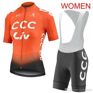 2019 LIV CCC 팀 반바지 정장 스포츠 의류 Y051002 턱받이 자전거 저지 자전거 의류 여름 통기성 짧은 소매 자전거 셔츠 여자