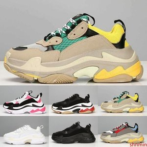 Cheap Fashion Paris 17FW Triple S Sneakers Triple-S Casual Dad Mens Designer Shoes for Women Beige Black Cheap Sports Trainers Chaussures
