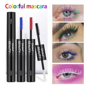 Stunning Colored Mascara Waterproof 4d Silk Fibre Express Mascara Eyelash Extensions Glitter Balck Blue Green Cosplay Party Mascara 6pcs