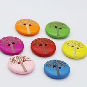 큰 나무 비용 나무 단추를 DIY 의류 액세서리 장식 버튼 바느질 액세서리 표시 500 개 조각 20 * 20mm 스팟 컬러 레이저