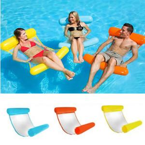 BILD Aufblasbare Hängematte Sommer Solide 6 Farben Schwimmen Lounge Bettstuhl Erwachsene Pool Party Spielzeug Aufblasbare Pool Float Bett Spielzeug 05