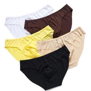2019 de haute qualité sexy hommes sous-vêtement en cuir Briefs moulantes en latex Enveloppé pénis ouvert Butt érotique Homme T-Back Fantasia Jeux pour adultes