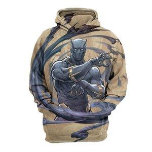 3D Print Hommes Sweatshirts Mode Marvel Film Designer Sweats à capuche manches longues à capuche Apparel The Avengers Panther