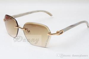 Les fabricants vendant des lunettes de soleil de coupe de diamant 8200728 lunettes de soleil de mode de haute qualité lunettes angle blanc Taille: 58-18-140 mm
