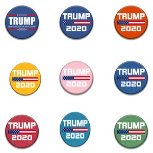fashion 9style Trump Commemorative Badge brooches pins 2020 American Election Supplies Trump Badge US Flag party Supply DA499
