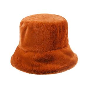 2020 neue Frauen-Pelz-Winter-Wannen-Hut-Mädchen-Art Solid Color Fishing Cap verdickte weiche warme Outdoor-Urlaub Kappen