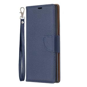 Portefeuille Couverture Flip Cover Pour Samsung Galaxy A10 / M10 / A10E / A20E / Note 10 / Note 10 Pro Case Pure Color Etui en Cuir Lichee