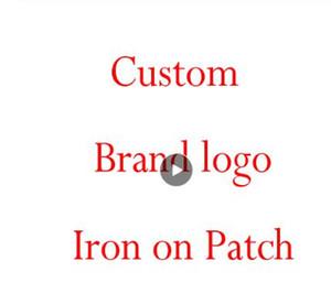 logotipo da marca personalizada remendos Hot fix adesivo de transferência de calor estampagem quente de ferro saco de vestuário no remendo