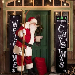 Merry Christmas Door Curtain Flag Halloween Decorations Hanging Flag Couplet Width Outdoor Banner Flags Festive & Party Supplies HA956