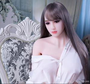 Half solid sex toys for adults real silicone sex doll men masturbator Japanese rubber women pussy