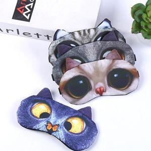 Remendo Dos Desenhos Animados Animal Cão Gato 3D Eyeshade Masculino Feminino Sono Saco De Gelo Sombreamento Presente Capa de Proteção Para Os Olhos Venda Quente 2 4 mt p1