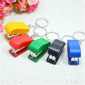 Office stationery mini stapler key chain stapler trumpet primary school stapler