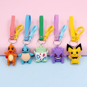 Fashion Baby Key Chain Cute Cartoon Picachu Doll Men's and Women's bag Pendant Lover's Gift Free Postage