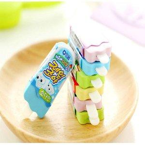 2 lot Creative Erasers Ice Cream Cute Kawaii 3d Pencil Eraser escolar goma de borrar rubber for Kids Gift School Supplies ce2007 CyKbp