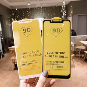 مع مربع التجزئة 9D غطاء كامل الزجاج المقسى حامي الشاشة الهاتف لفون XR XS MAX 8 7 6 زائد هواوي Nova 5i Redmi Note 7 Pro
