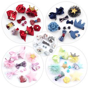 Focusnorm 10 Pezzi / Set Hip Lace Accessori Nuova neonata del bambino dei capelli di Bowknot animale diademi dei capelli Headwear per ragazza regalo