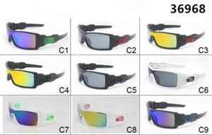 Gafas grandes Hombres Gafas de sol deportivas Gafas de sol frescas al aire libre Gafas de sol O Gafas de conducción 9 colores Gafas protectoras 36968 Venta al por mayor