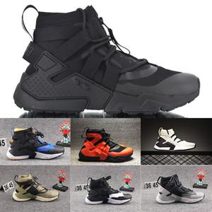 2020 Мода Huarache Gripp 6 QS кроссовки Black Olive Холст и Net Army марли Самой лучшего качества обуви Спортивных тапки мужских Кроссовки