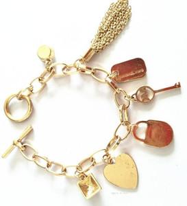 M series Diamond bracelet for men and women tassel multi pendant bracelet three color selection MK letters bracelet lem