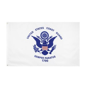 Free Shipping In Stock 3x5ft 90x150cm Hanging United States of American Military USCG Coast Guard Flag Banner for Decoration