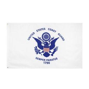 Livraison gratuite En stock de la 90x150cm Hanging États-Unis de drapeau de la Garde côtière USCG militaire américaine Bannière pour la décoration