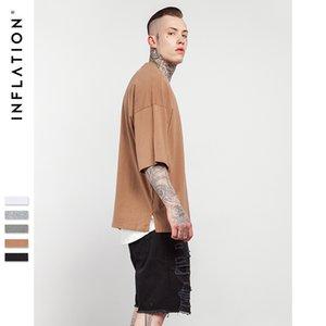 streetwear harajuku t shirt men modis half sleeve solid tshirt tee shirt homme oversized hip hop mens fashion clothes T200527