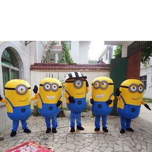 New Minions Mascot Costume EPE Fancy Dress Outfit Adulto venda quente Anime presente da mascote para a festa de Halloween