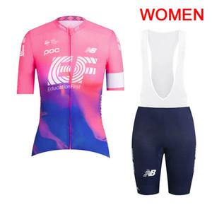2019 Pro Team EF Eğitim İlk kadınlar bisiklet jersey yaz Yarış Bisikleti Giyim Nefes bisiklet giyim açık spor Y030103