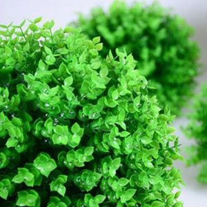Crafts Ornament Green Grass Ball Topiary Plant Artificial Simulation Leaf Fake