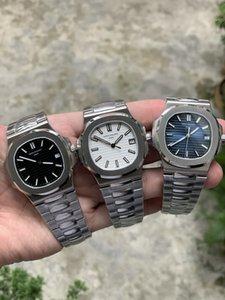 3 couleurs Qualité Bleu Cadran Blanc 9015 324C Mouvement Sapphire Montres-bracelets 40mm Nautilus 5711 mécanique Transparent automatique Mens Watch