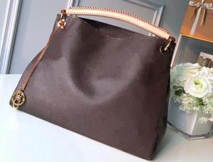 Clássico Top Quality 44869 41 centímetros de Mulheres saco de compras messengerbag Moda Shoulderbag Artsy Momogran Canvas Totes Bolsa frete grátis 2020